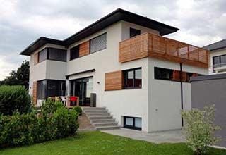 Bauunternehmen zimmerei zebau hausbau neubau im for Modernes wohnhaus