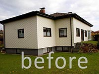 Zebau pictures and description of before after comparison for Renovated homes before and after photos